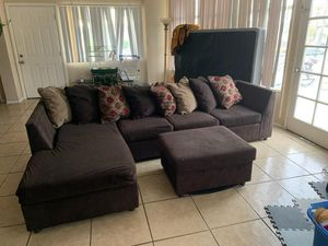 Dark brown couch for Sale in Tempe, AZ