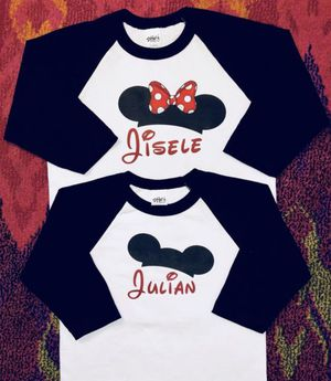 Mickey & Minnie Mouse Hat Baseball Tees for Sale in Long Beach, CA