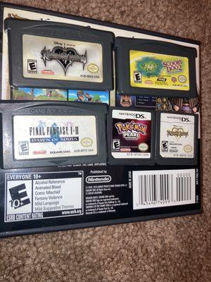 Pokémon Pearl, Final Fantasy 1-2 dawn of souls, kingdom hearts, Scooby doo1-2, kingdom hearts Ds for Sale in Dallas, TX