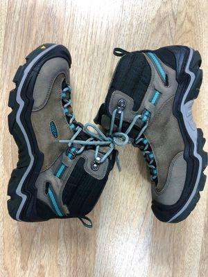 Keen Laurel Waterproof Mid Womens 10 Suede Trail Hiking Boots Steel Grey $180 for Sale in San Mateo, CA