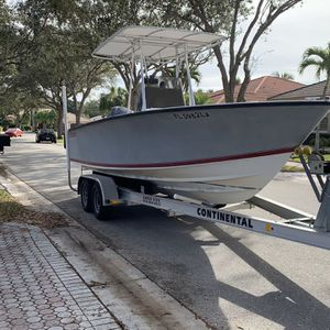 1999 - 21 Foot Contender Boat For Sale w/ Trailer With Stainless Steel Brakes, Life Jackets, 2 Towable Tubes, Skis, Wake Boards, 1 Towable Hot Dog. for Sale in Fort Lauderdale, FL