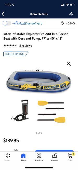 New in box intex 2 person boat for Sale in Tinley Park, IL