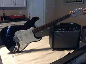 Fender Squier Strat Guitar and Fender Frontman 15G Amp for Sale in Belleair, FL