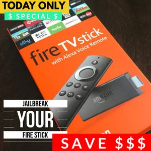 Brand New Fire tv stick with Alexa Voice Remote. Fully Unlocked and Jailbroken. Opened only for jailbreaking and unlocking. Lots of apps including Ko for Sale in Indianapolis, IN