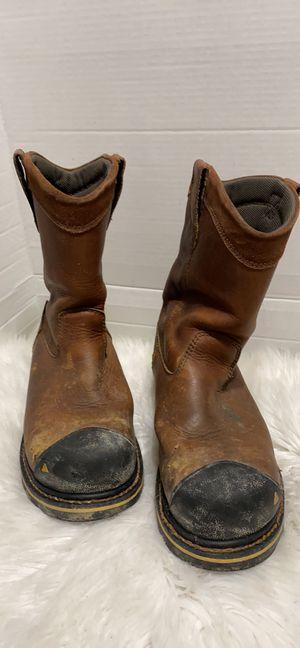 KEEN FOOTWEAR MEN'S WELLINGTON PULL-ON STEEL TOE WORK BOOTS Size 8 for Sale in Dearborn, MI