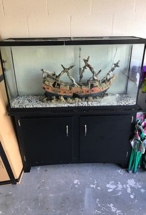 75 Gallon aquarium with stand...comes with 2 of everything from the store...has the filter but may need swapped out with new. Asking $500 it was $700 for Sale in Ruskin, FL
