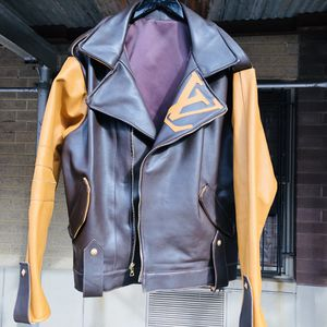 Custom Louis Vuitton leather moto jacket for Sale in New York, NY