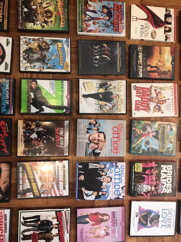 Miscellaneous DVDs $2 each