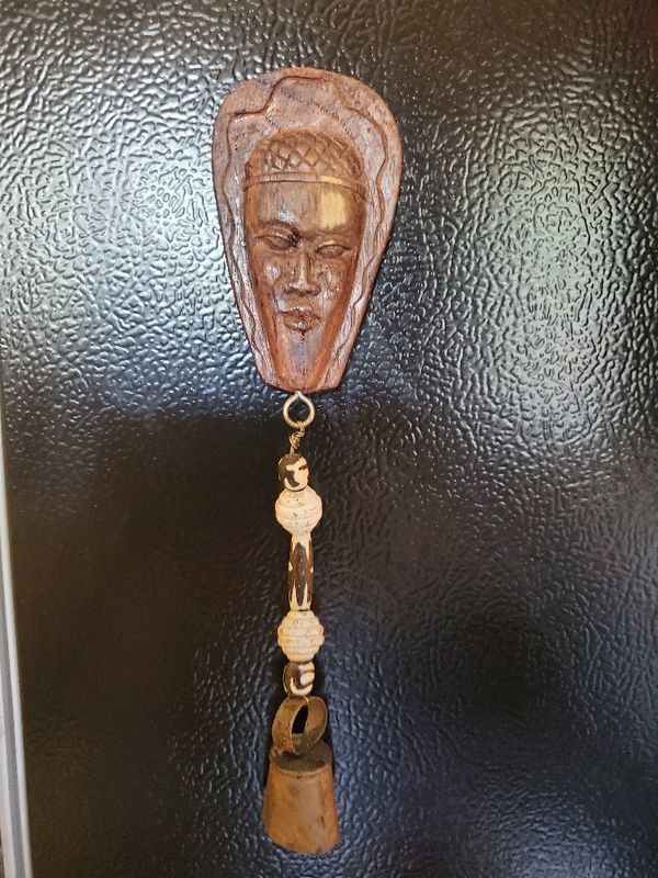 Wooden African Mask Magnet