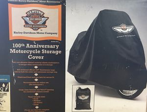 Harley Davidson 100th Anniversary Motorcycle Cover Small 91626-03 NIB 100th Anniversary Logo on front. for Sale in Plymouth, CT