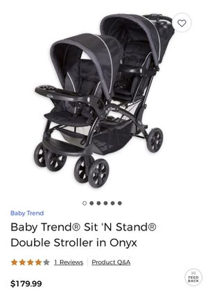 Double Stroller Baby Trend Sit N Stand for Sale in Germantown, MD