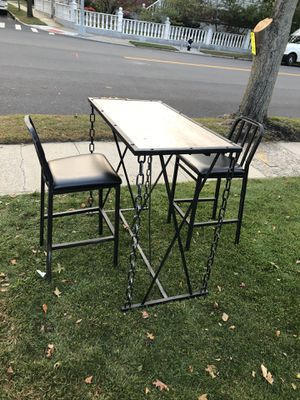 Display bar height table and chairs for Sale in Queens, NY