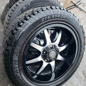 New 20x10 Wheels With Tires 6 Lug Universal for Sale in South Elgin, IL