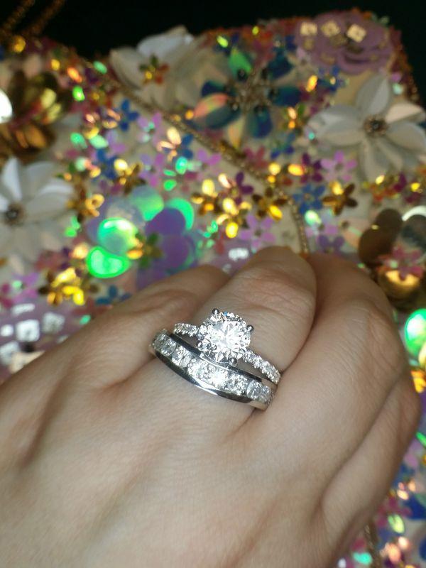 3 carat pretty diamond ring certified