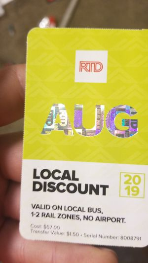 Month pass for Sale in Lakewood, CO