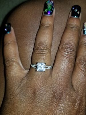 CZ Ring Sterling Silver Sz7 for Sale in Odenton, MD