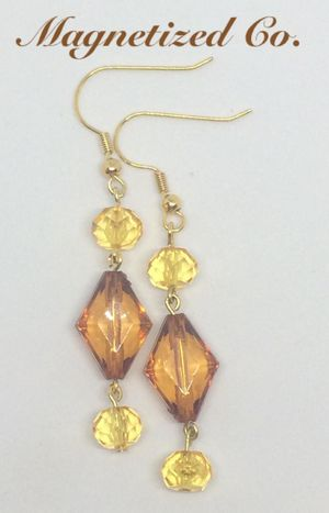 Gold/Brown Tiered Dangled Earrings for Sale in Independence, OH
