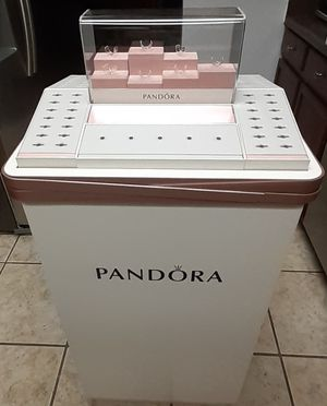 """Great Condition PANDORA Ring Display with 74 Slots On Display & 30 on small 7 Shelves with lock/Key 4ft H 20"""" Width 16 1/2 Length for Sale in San Antonio, TX"""