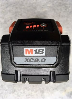 NEW! Milwaukee M18 XC 8.0 Battery HIGH OUTPUT HD 8ah 9 8 RED lithium 18V 48 11 1880 xc8.0 xc8 for Sale in Battle Ground, WA