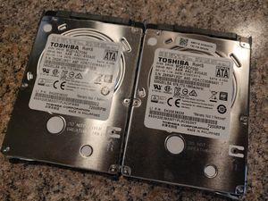 "2x (pair) Toshiba 500GB 7200RPM 2.5"" SATA MQ01ACF050 for Sale in Indianapolis, IN"