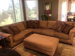 Robert Michael Limited Couch down and feather tweed sectional for Sale in Gig Harbor, WA