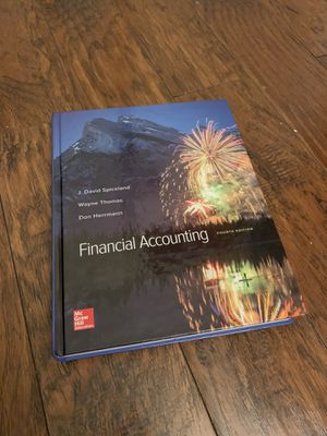 Financial Accounting Fourth Edition Texbook for Sale in Garland, TX
