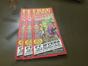 Circus tickets Germain Arena for Sale in Fort Myers, FL