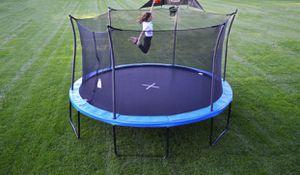 Trampoline 14' propel basketball hoop heavy duty adult kids new for Sale in Rancho Cucamonga, CA