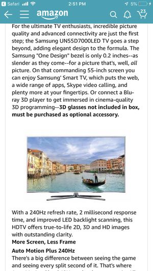 Samsung UN55D7000 55 inch LED 3D TV for Sale in San Diego, CA