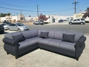 NEW 7X9FT ELITE CHARCOAL FABRIC SECTIONAL COUCHES for Sale in Las Vegas, NV
