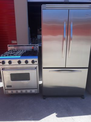 "VIKING PROFESSIONAL STOVE 30"" GAS NATURAL VIKING REFRIGERADOR 36"" BOTTOM FREEZER for Sale in Hayward, CA"