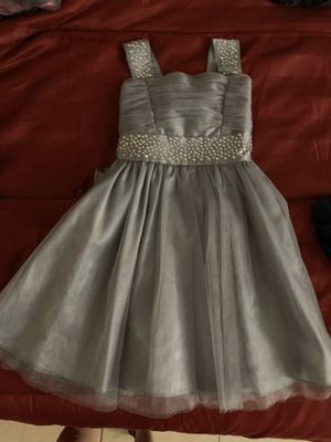 Silver wedding dress with glitter and rhinestones for Sale in Tampa, FL