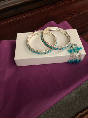 Blue and silver bangles for Sale in Chevy Chase, MD