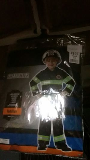 Fireman costume for toddler for Sale in Langhorne, PA