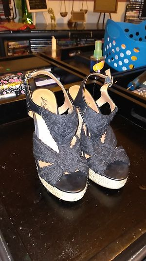 Black Lucky Brand wedge heels size 6 for Sale in Cottageville, SC
