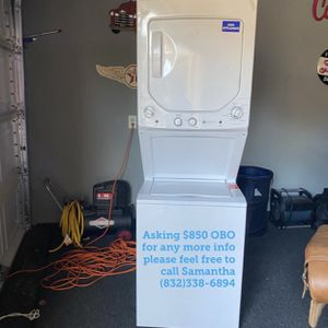 Stackable washer and dryer for sale for Sale in Katy, TX