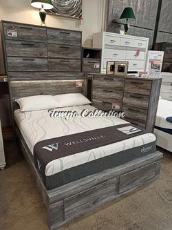 4 PC Bedroom Set (Queen Bed, Dresser Mirror and Nightstand), Grey, SKU# ASHB221-4QTC for Sale in Santa Fe Springs,  CA