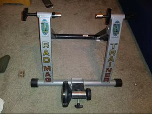 RAD MAG Indoor Road & Mountain Bike Magnetic Bicycle Trainer Foldable EUC 50 $$$ or best offer Mus pick up for Sale in Austin, TX
