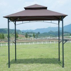 8'x 5'Gazebo Barbecue Grill Tent w/ Air Vent, Brown 🛳SHIPPING ONLY📦 for Sale in Fremont,  CA