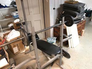 Weights and bench for Sale in Rockville, MD