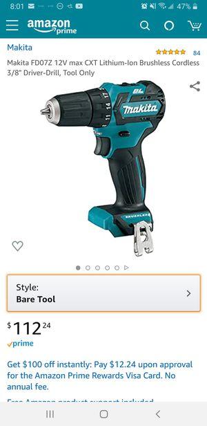 Makita 12v brushless hammer drill for Sale in Ewa Beach, HI
