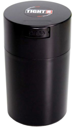 Tightvac - Smell Proof- 1 oz to 6 ounce Airtight Multi-Use Vacuum Seal Portable Storage Container for Dry Goods, Food, and Herbs - Black Cap & Body for Sale in Lawrenceville, GA