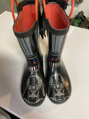 Darth Vader Rain boots size 2 for Sale in Riverside, CA