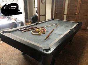 Used, Slick Black Pool Table for Sale for sale  Lawrenceville, GA