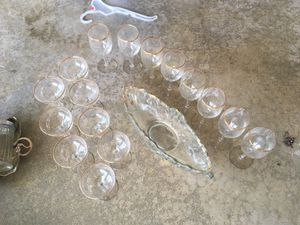 Antique glasses and bowl for Sale in Chesnee, SC
