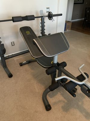 Golds Gym Olympic Weight Bench, Squat Rack, Olympic Weight bar 80 lbs for Sale in Ocoee, FL