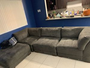 Need gone asap grey couch for Sale in Opa-locka, FL