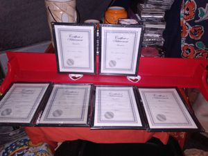 Brand new never been opened eight and a half by 10 certificate picture frames for Sale in Prairieville, LA
