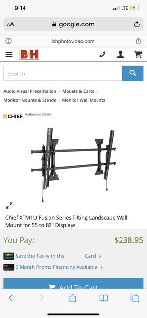 New Chief Professional A/V Tv/Display mount for Sale in Denver, CO