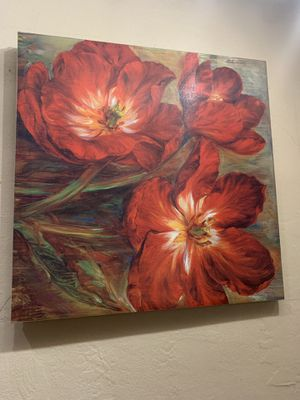 Flower Painting on canvas for Sale in Queens, NY